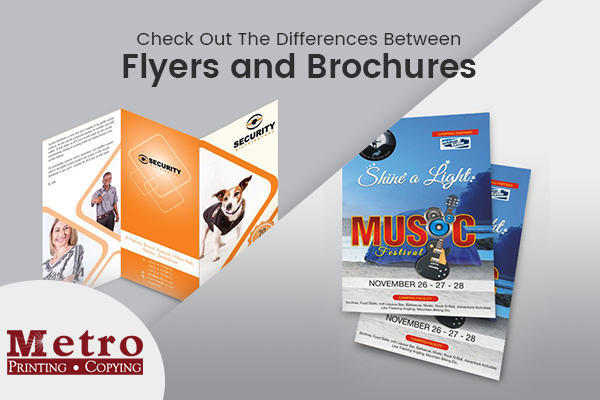 The Prime Difference between Flyer and Brochure Printing Services